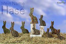Mein Name ist Hase / Wenn nicht zu Ostern wann dann? in unserem Thema Mein Name ist Hase haben wir für Sie etwas andere Holzhasen ausgesucht. In zwei Größen ist jedes ein Unikat.