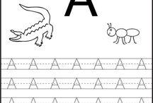 A harfi çalışma sayfası