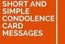 Condolences card messages