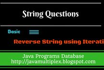 String Questions / The solution of string questions in Java.