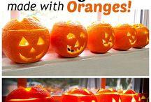 Oranges to jack olanterns / Halloween mini lanterns