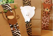 Baby shower zoo