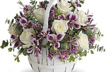 canasto flores