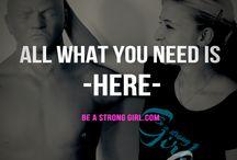 Be A Strong Girl - Sprüche / Sprüche für Starke Frauen - Mode für Frauen