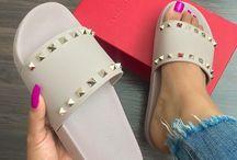 Flache Schuhe/sandales