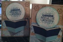 Stampin' up, Hello Sailor / Nautical, guy card,  boys birthday card, boat, 3D, best mate,  sink or swim