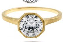 || bezel set engagement rings ||
