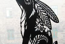 Paper cutting art / cutting paper into beautiful designs ......who me? ....with my arthritic flick? watch out for that knife if I do.....eeeeeeeeeek!!!