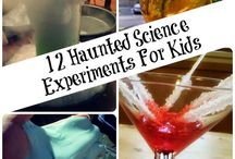 Haloween lab party / lots of fun activities for the 3rd graders in here.