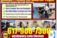 Boston Jet Charter Flight / Private Luxury Jet Charter Flights Service From or To Boston, Massachusetts area either for Business, Personal or Emergency? call 617-906-7300 or go to http://www.wysluxury.com/boston-jet-charter-flight/ for location near you.