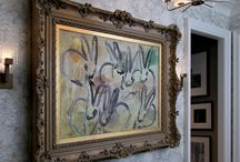 Philip Mitchell's Artistic Pose / Toronto based Philip Mitchell Design adds the art to the stairs of New York's Kips Bay Decorator Show House 2015.  http://philipmitchelldesign.com