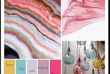 Colour palettes / Mood boards and colour palette inspiration