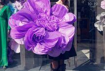 fiori di carta giganteschi