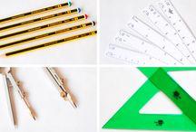Materiales y herramientas / Materiales y herramientas para la construcción de casitas miniaturas.