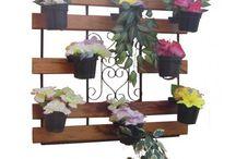 floreiras verticais e horizontais