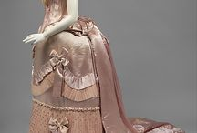 1880's Ball and Evening Gowns / Late Bustle Era Ball Gowns