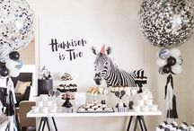 Party black and white theme