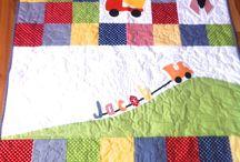 Boy train quilt