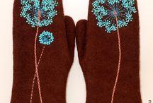 Митенки перчатки варежки
