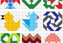 Triangel quilt / Driehoeken......triangle