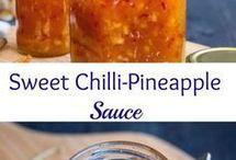 Sweet chilli pineapple cauce