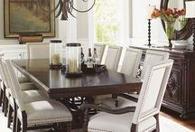 Dynamic Dining Rooms / Dining rooms are many times the focal point in any home.  Design yours with your family and your entertaining needs in mind.  Stacy Furniture & Design staff is here to help select the perfect dining room for you.