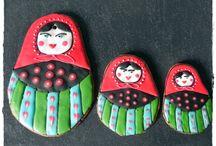 AniPasje / Pierniki, pierniczki ręcznie zdobione, unikatowe.Christmas, gingerbread, decorations, hand-decorated, cookies, matrioszka
