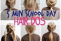 penteado de criança para escola
