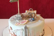 Travel birthday cake