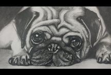 Drawings pugs!