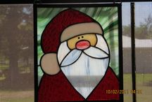 Xmas stained glass