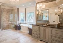 Grey Tone Master Bathroom Remodel Design Ideas