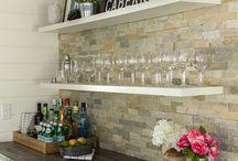 Basement shelf decor ideas