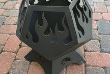 Fire flames for backyard