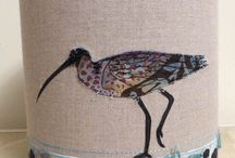 Jo's Lampshades / Hand made, free-motion embroidered and appliquéd lampshades.