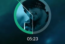 Mobile UI Music Players / Vormgeving opdracht