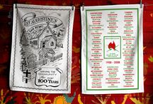 Best Anniversary / Commemorative Inspired Designs Tea Towels / Anniversary themes printed onto a tea towel