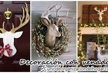 Decoración navideña 2016 con venados
