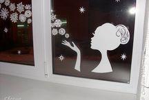 zimna vyzdoba okien