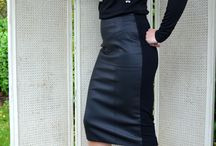 Leather Look Essential / Culture Top £70, FU Leather Look Skirt £70