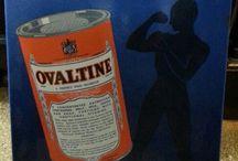 Vintage Ovalltine germany enamel sign