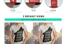 Mockups | Apparel & Fashion / Mock-ups to display design on T-Shirts, Hoodies, Tank tops, Caps, and everything apparel / wearable fashion