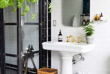 Industrial chic bathrooms