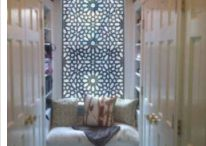 Lattices and Room Dividers / In the tradition of the Southern Mediterranean, Lattice work is a protection from many things, invaders, sun, and intruding eyes.  The Lattice is light and airy yet it gently indicates that privacy is needed almost as much as beauty, solitude, symmetry and serenity.