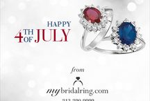 Happy 4th of July / Happy 4th of July! Bright and Sparkling Rings, Jewelry Gift Ideas.