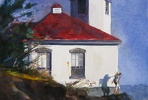 Lighthouses in Plein Air Painting / Lighthouse Paintings