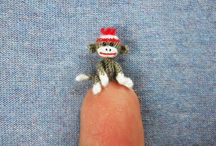 Tiny Crochet / This amazes me.  I have crocheted a small bear at least five times larger than these examples and it was very difficult. / by Lauralee Jenkins