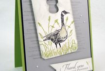 Wetlands / Made using Stampin' Up! Wetlands stamp set.  This is also a new stamp set in the 2013-2014 catalog.  Such a great one!