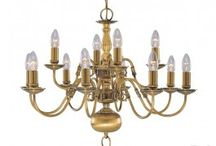 Traditional Brass Multi Arm Chandeliers