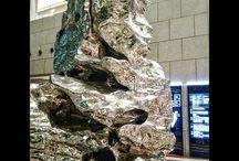 奥歯が痛くなるオブジェ。 The arteork what feel toothache. #art #toothache #silverfoil #アート #銀紙写真